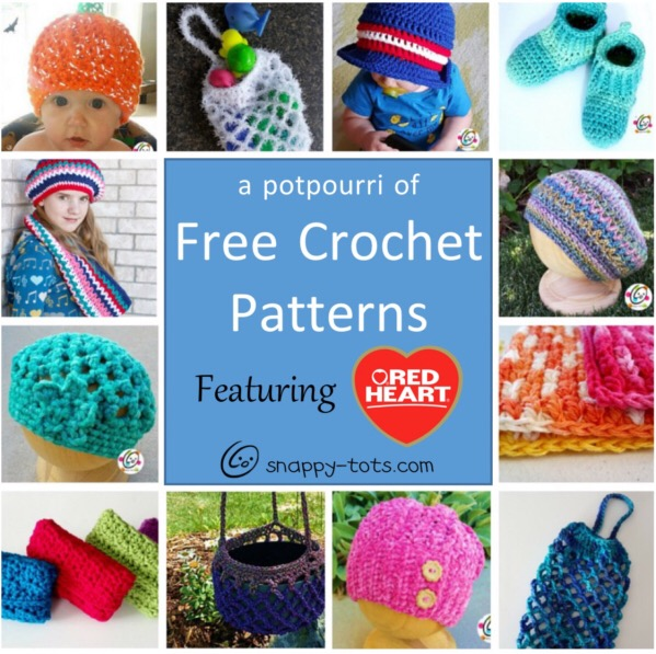 free crochet patterns featuring Red Heart Yarns