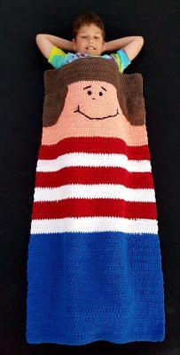 Flat snappy crochet blanket.