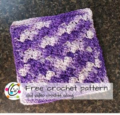Free Pattern: Grape Jam Washcloth