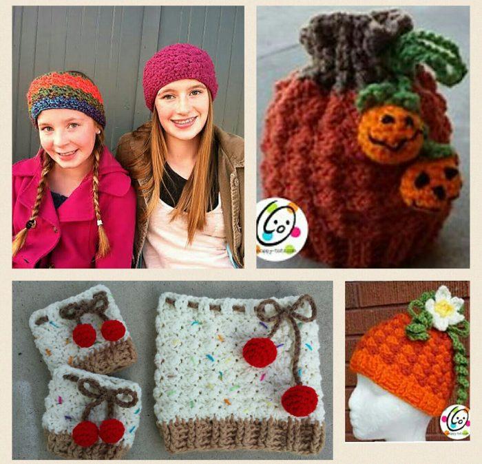 Crochet beanie, cowl, earwarmer and boot cuffs pattern pack.