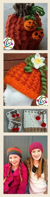Crochet patterns for beanie, cowl, earwarmer, and boot cuffs.