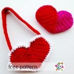 Free Pattern: Heart Pocket and Purse