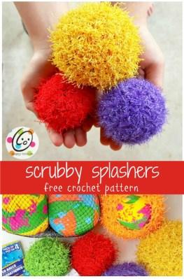 Free Pattern: Scrubby Splash Balls
