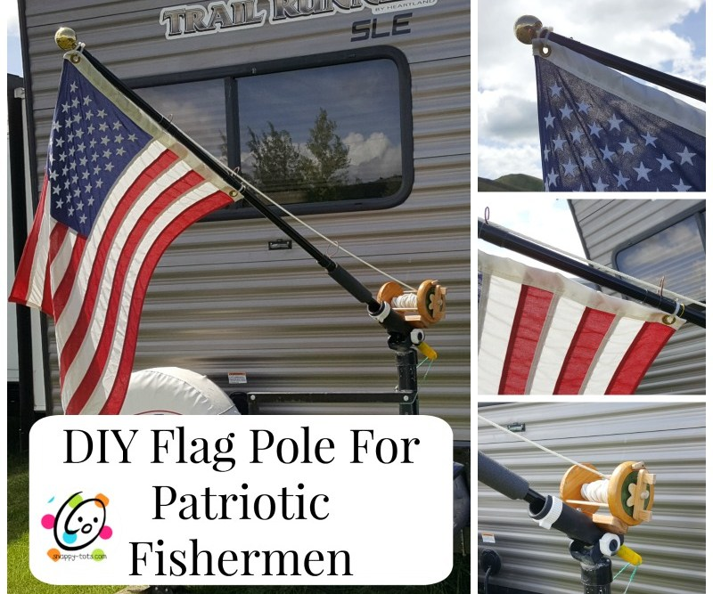 DIY: Flag Pole for Patriotic Fishermen