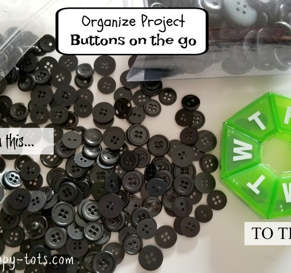 Organize: Buttons on the go
