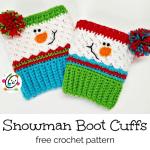 Free Pattern: Sampler Snowman Boot Cuffs