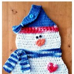 Free Pattern: Snowman Hanging Dishcloth