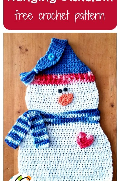Free Pattern: Snowman Hanging Dishcloth