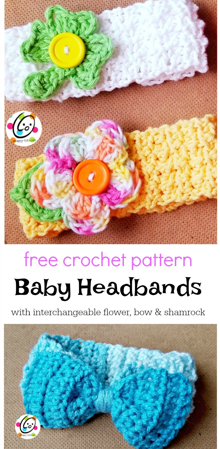 Free Pattern: Baby Lucy Headbands ~ Snappy Tots