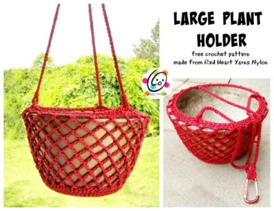 Free Pattern: Large Plant Holder