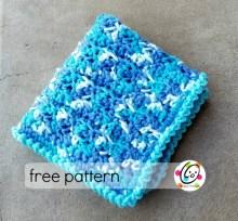 Free Pattern: Happy Washcloth