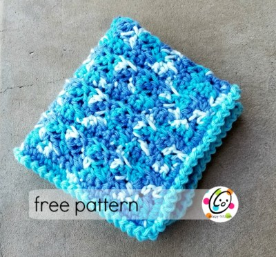 Free Pattern: Happy Washcloth