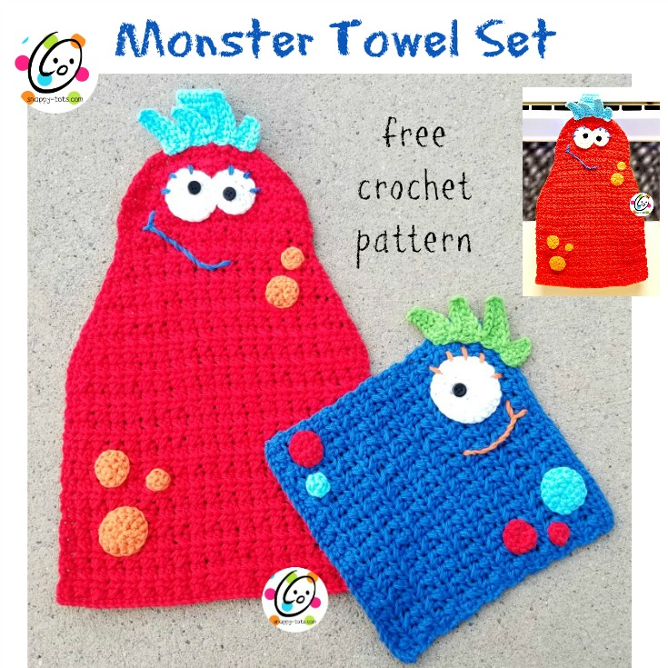 Free Pattern Monster Hanging Towel Snappy Tots