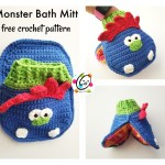Free Pattern: Monster Bath Mitt