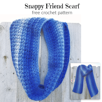 Free Pattern: Snappy Friend Scarf