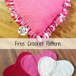 Free pattern: Giant Squishy Heart Pillow