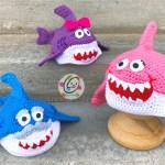 New Shark Family Beanies