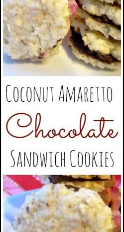 Coconut Amaretto Chocolate Sandwich Cookies