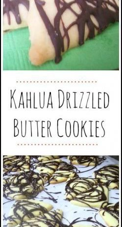 Kahlua Drizzled Butter Cookies