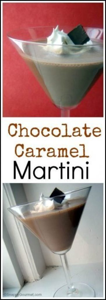 Chocolate Caramel Martini recipe - an easy cocktail drink. SnappyGourmet.com