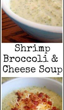 Shrimp, Broccoli, & Cheese Soup Recipe - easy homemade soup recipe. SnappyGourmet.com