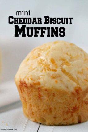 closeup of mini muffin