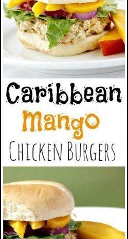 Caribbean Mango Chicken Burgers