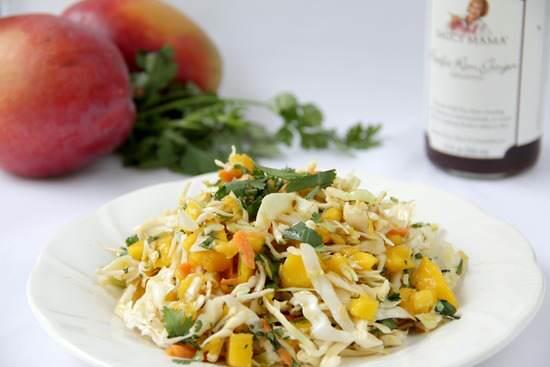 Pacific Rim Ginger Mango Slaw Recipe | SnappyGourmet.com