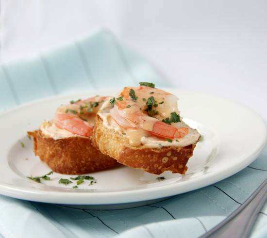 Creamy Chipotle Shrimp Crostini Recipe | SnappyGourmet.com