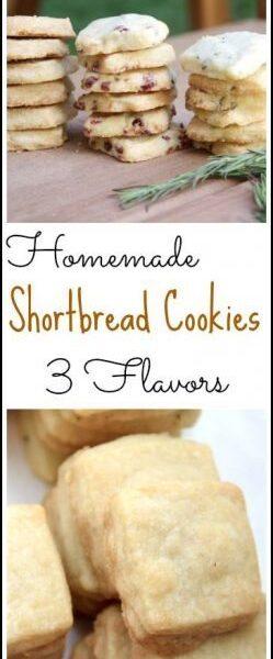Homemade Shortbread Cookies - easy shortbread cookie recipe in 3 flavors! SnappyGourmet.com