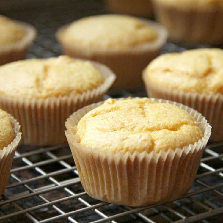 Pumpkin Ale Cupcakes - pumpkin cupcakes cooling on rack