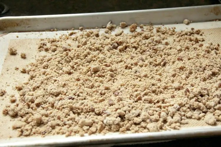 Streusel Topping - how to make streusel topping at home