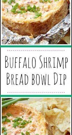Buffalo Shrimp Bread Bowl Dip
