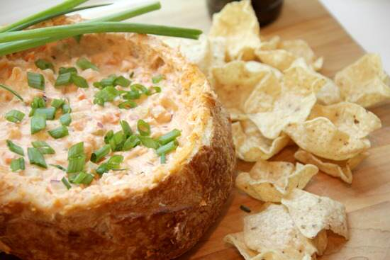 Buffalo Shrimp Bread Bowl Dip Recipe | SnappyGourmet.com