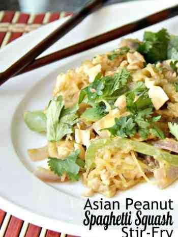 Asian Peanut Spaghetti Squash Stir-Fry