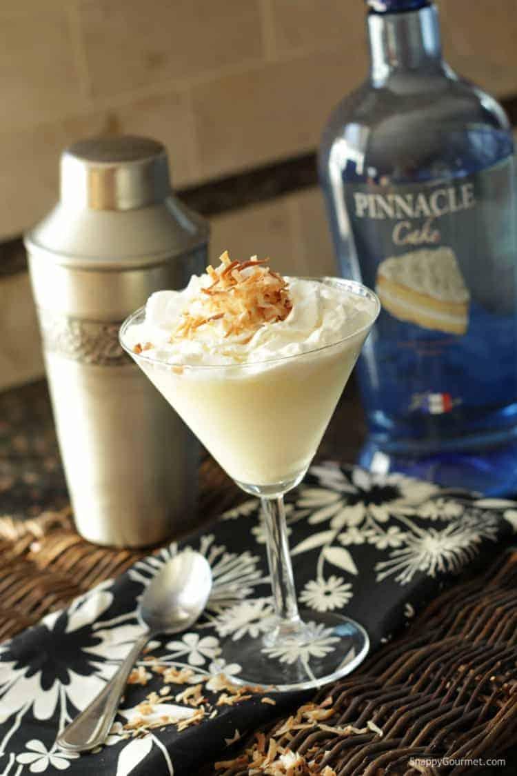 Better Than Sex Caketini Cocktail Recipe - Better Than Sex Cake cocktail with Pinnacle Cake Vodka. SnappyGourmet.com