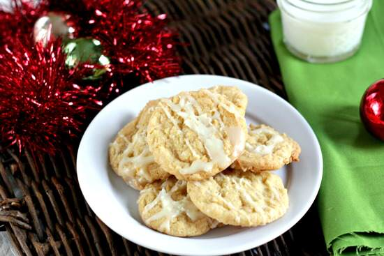 White Chocolate Drizzled Pina Colada Cookies Recipe   SnappyGourmet.com