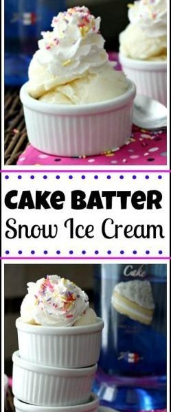 Easy Cake Batter Snow Ice Cream recipe - How to make homemade snow ice cream | snappygourmet.com