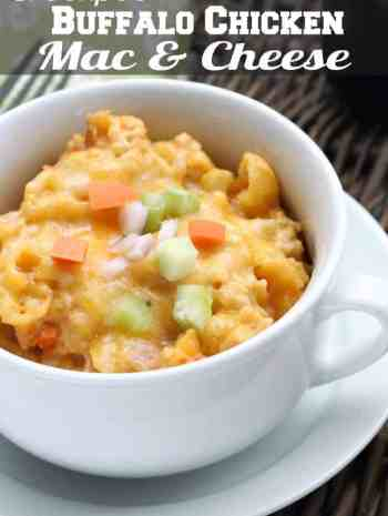 Buffalo Chicken Mac and Cheese (Crockpot) Recipe - Easy buffalo chicken macaroni and cheese made in a slow cooker