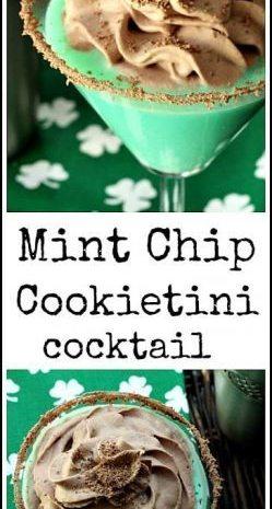 Mint Chip Cookietini