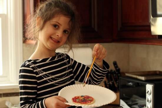 Rainbow Painted Sugar Cookies Recipes   SnappyGourmet.com