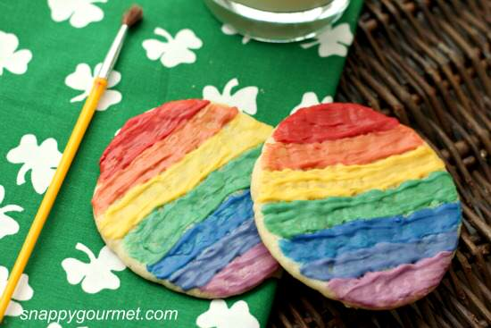 Rainbow Painted Sugar Cookies Recipes | SnappyGourmet.com