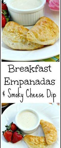 Breakfast Empanadas & Smoky Cheese Dip Recipe - easy homemade Mother's Day, Easter, or weekend breakfast! SnappyGourmet.com