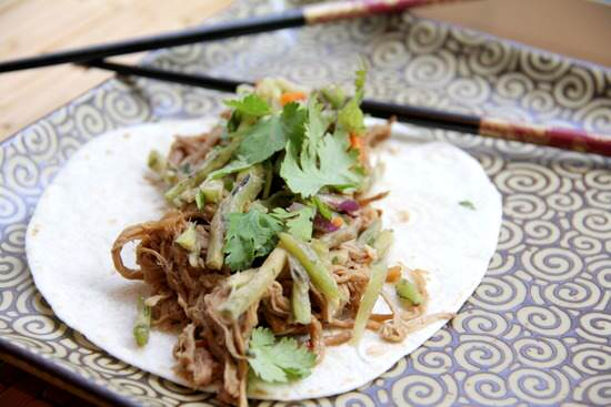 (Slow Cooker) General Tso's Slow Cooked Pork Tacos with Orange Broccoli Slaw Recipe   SnappyGourmet.com
