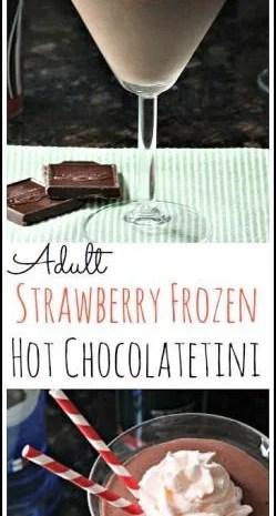 Adult Strawberry Frozen Hot Chocolatetini