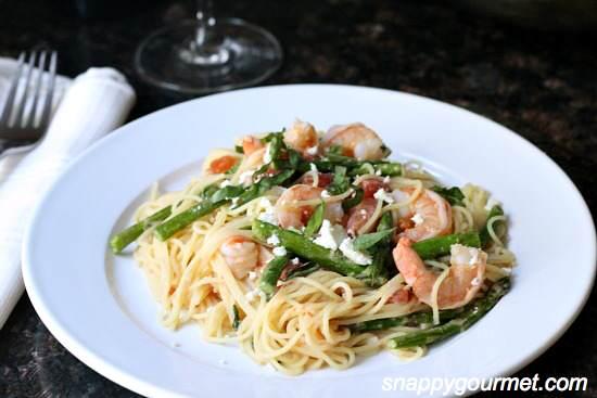 Mediterranean Shrimp & Feta Pasta Recipe | SnappyGourmet.com