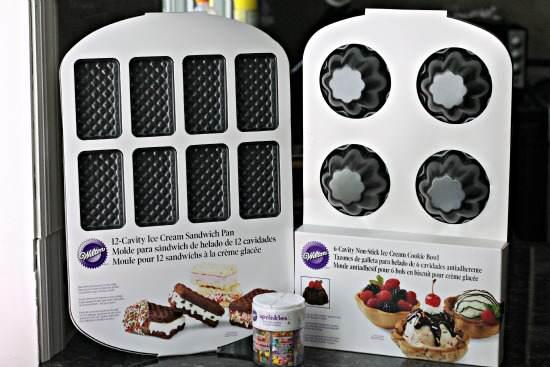 Red, White, & Blue Ice Cream Sandwiches Recipe | SnappyGourmet.com