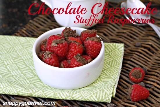 Chocolate Cheesecake Stuffed Raspberries Recipe | SnappyGourmet.com