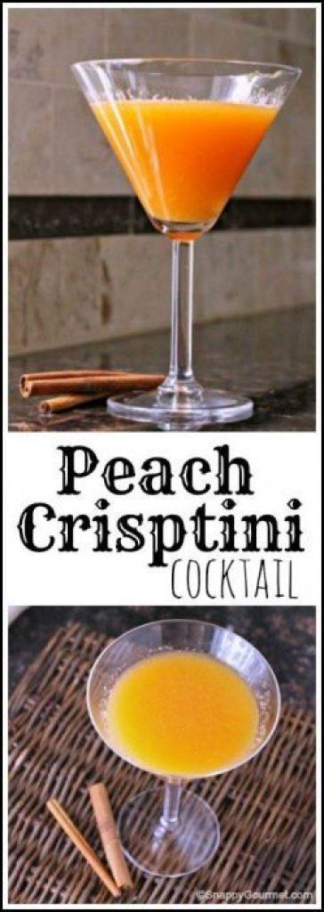 Peach Crisptini Cocktail recipe - easy peach cocktail drink | SnappyGourmet.com