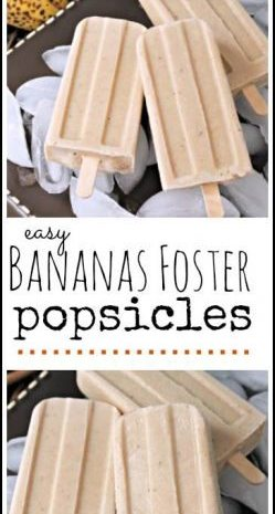 Bananas Foster Popsicles - easy popsicle recipe for kids or adults! SnappyGourmet.com